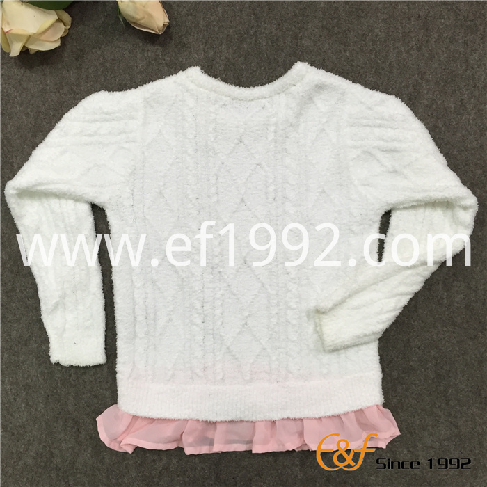 special cable pattern sweater for girl