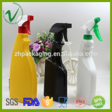 500ml hot sale high quality empty plastic detergent bottle with pump sparyer