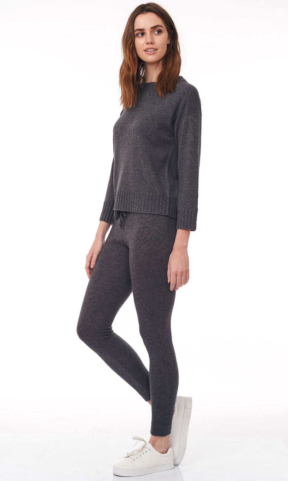 smoke cropped round neck sweater side