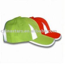 6 Panel microfibre reflective safety baseball cap