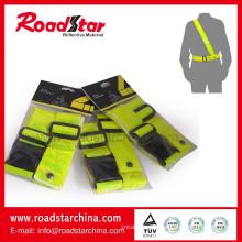 Correia de cintura de reflexiva da segurança de alta visibilidade de PVC e sam browne
