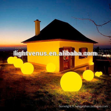 sans fil rechargeable Chrismas imperméables boule ornement / led lueur piscine balle
