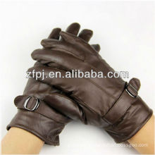 new arrival mens brown color motorcycle leather glove