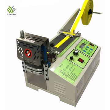 Automatic webbing/ribbon hot and cold cutting machine