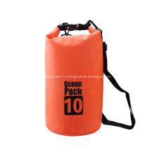 10л водонепроницаемый 500D ПВХ прочный прозрачный сухой мешок