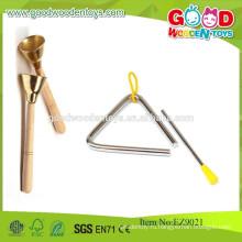 Деревянные Китай Традиционные колокола для рук Медные колокола Образовательные музыкальные игрушки
