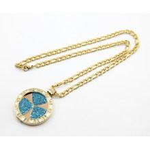 Hochwertiges Gold überzogene Edelstahl-schwimmende Locket-Halskette