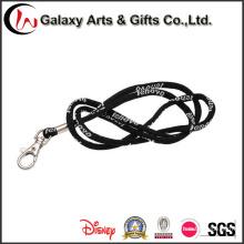 Jacquard negro personalizado redondo cuerda