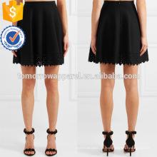 Venda quente preto plissado plissado a linha de mini saia fabricação atacado moda feminina vestuário (ta0013s)