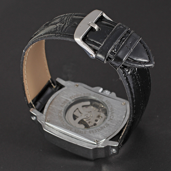 rectangle winner watch with small dial business watch for man