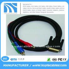 DVI24 + 5 A 3RCA COMPONENT CABLE PARA LAPTOP PC LCD TV