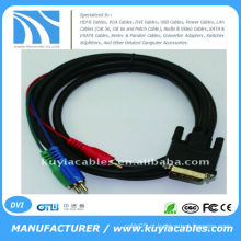 CABO DE COMPONENTE DVI24 + 5 A 3RCA PARA PC LAPTOP PC LCD