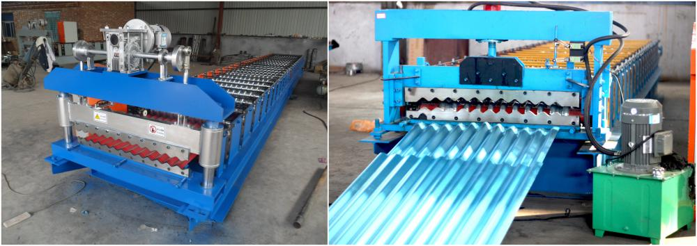 steel double layer machine