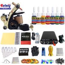 Solong TK105-11 kit de tatouage débutant avec des kits de tatouage d'alimentation d'énergie de pistolet de tatouage avec des aiguilles
