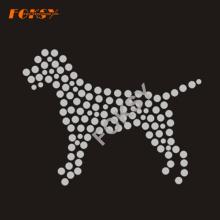 Neues Design Hund Strass Eisen auf Transfer