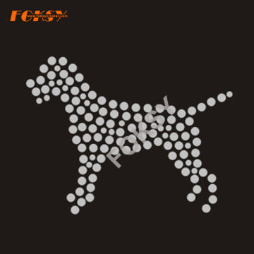 Novo Design Dog Rhinestone Iron on Transfer