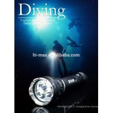 Cree Aluminum Diving Lampe torche de plongée