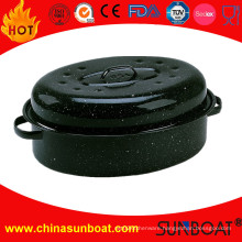 Kitchen Cookware MID-Size Cast Iron Enamel Oval Roaster