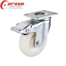 100mm Medium Duty Nylon Wheel Caster with Total Brake