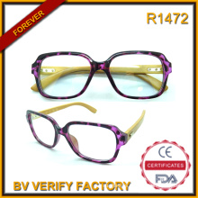 Plastic Reading Glasses with Bamboo Temple