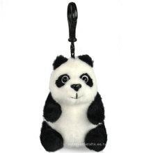 Regalo de promoción mini llavero lleno de juguete de peluche suave panda