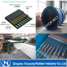 Bande de conveyeur de corde en acier avec la force à haute résistance