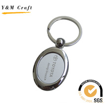 Hot Selling Oval Metal Key Ring with Logo (Y02401)