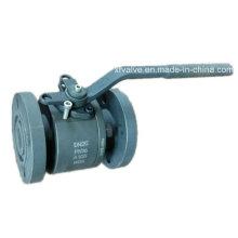 Válvula esférica de extremo de conexión de brida de diámetro reducido A105 de acero forjado