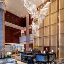 Custom hospitality hotel K9 gold crystal chandelier