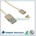 Mobile Phone Accessories Charging Date Nylon Micro Magnetic USB Cable