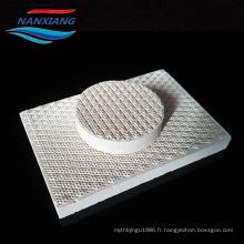 plaque en céramique de nid d'abeilles infrarouge de cordiérite pour le gril