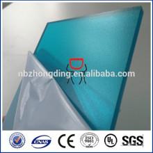 revêtement UV feuille de polycarbonate solide givré bleu