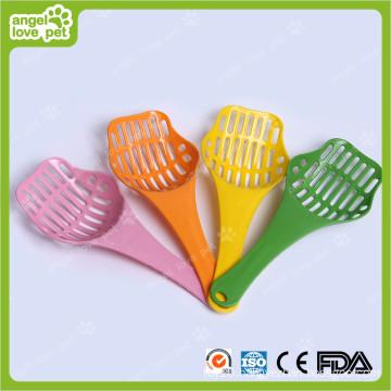 Colorized Plastic Cat Litter Shovel Pet Products (HN-PG400)