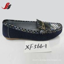 Neueste Lady Loafer Schuhe Freizeit Leder Schuhe (XX562-1)