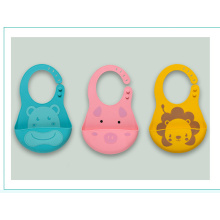 Cute Soft  Cotton/silicone Baby Bib