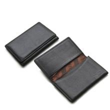 PU leather men's name card holder foldable holder