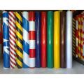 5cm Breite Hazard Warnung Druckempfindlich Typ Retro PVC Reflexfolie, hohe Sichtbarkeit Grad reflektierend