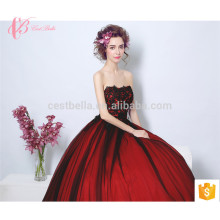 Wine Red Long Trailing Italian Design Raw Silk Maternity Evening Dress