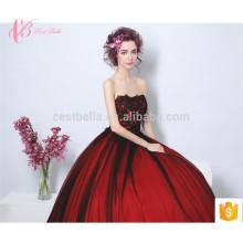 Wine Red Long Trailing Italian Design Raw Silk Maternity Evening Dress