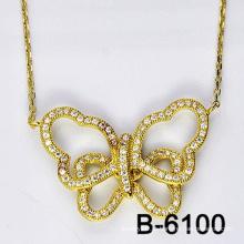 Nova moda jóias colar de pingente de borboleta