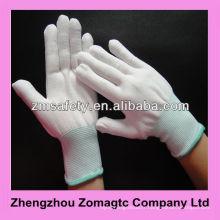 Gants en nylon blancs tricotés sans couture non pelucheux 4131 ZMR1606