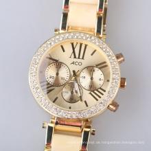 Luxus Damenuhr Mode Diamant Gold Uhr