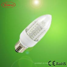3-9W diodo emissor de luz de vela com tampa transparente