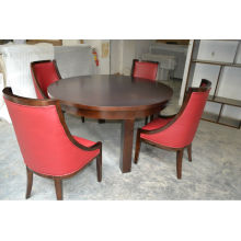 Round restaurant table and soft backrest chair set XY0708