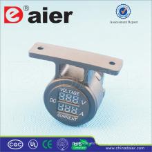 Daier Haute Qualité 5 V ~ 30 V Voiture Double Port Voltmètre Numérique Et Ampèremètre Avec Support Un Panneau De Trou