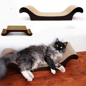 Low Cost for Lounge-Shaped Corrugated Cardboard Scratcher Original Scratch Lounge with Floor Refill and Catnip supply to Switzerland Manufacturers