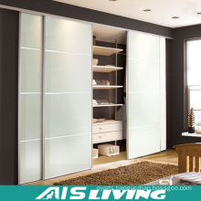 Glass Sliding Door Wood Grain Wardrobe for Bedroom (AIS-W023)