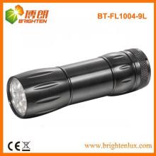 Vente en gros d'usine Lampe de poche EDC à bas prix, Aluminium 9 led Flashlight Free