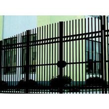Puerta de la cerca de acero de zinc recubierto de polvo
