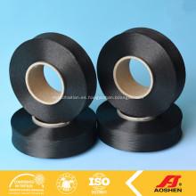 20D hilo negro Spandex para hacer punto Tejido Negro